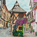 Touring In Eguisheim by Charlotte Blanchard