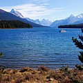 Touring Maligne Lake by Larry Ricker