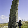 Tourist Admires The Trushal Stone by Fran Gallogly