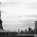 Tourists Visiting The Statue Of Liberty by Sami Sarkis