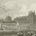 Tournay On The Seine During The July Fetes by Eugene-Louis Lami