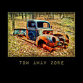 Tow Away Zone Vintage Truck by Christina VanGinkel
