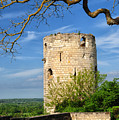 Tower At Chateau De Chinon by Dave Mills