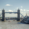 Tower Bridge And Hms Belfast 3 by Chris Day