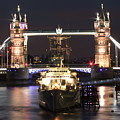 Tower Bridge And Hms Belfast by Andrew Ford