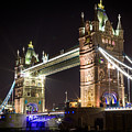 Tower Bridge At Night by Sam Garcia