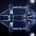 Tower Bridge In London By Night  by Jaroslaw Grudzinski