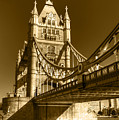 Tower Bridge In Sepia by Chris Day