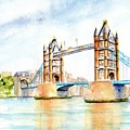 Tower Bridge London by Carlin Blahnik CarlinArtWatercolor