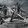 Tower Bridge With The Compass by Nigel Dudson