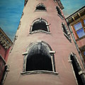 Tower In Lyon France Traboules by Irving Starr
