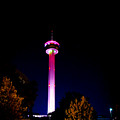 Tower Of The Americas October Night by Marisela Mungia