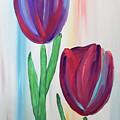 Towering Tulips by Jilian Cramb - AMothersFineArt