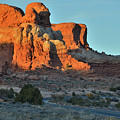 Towers Along Park Road In Arches Np by Ray Mathis