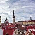 Towers Of The Tallinn Old Town by Jukka Heinovirta