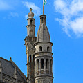 Towers Of The Town Hall In Bruges Belgium by Louise Heusinkveld