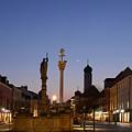 town center of Straubing by Karin Stein