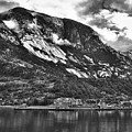 Town Ina Fiord In B/w by David Resnikoff