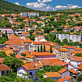 Town Of Drnis And Dalmatian Inland Panorama by Brch Photography