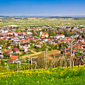 Town Of Ivanec Aerial Springtime View by Brch Photography