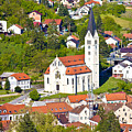 Town Of Krapina Church Vertical View by Brch Photography