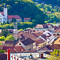 Town Of Krapina Rooftops View by Brch Photography