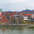 Town Of Maribor Riverfront Panoramic  by Brch Photography