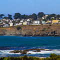 Town Of Mendocino by Bonnie Follett