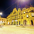 Town Of Ptuj Historic Main Square Evening View by Brch Photography