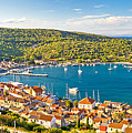 Town Of Vis Panorama From Hill by Brch Photography