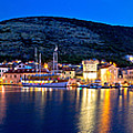 Town Of Vis Waterfront Evening Panorama by Brch Photography