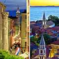 Town Of Zadar Evening And Sunset Travel Collage by Brch Photography