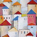 Town Painting by Lutz Baar