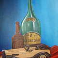 Toy Car And Bottles by  Rosanna Hardin