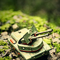 Toy Tank In Forest by A Cappellari