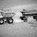 Toy Truck In Black And White by Sarah Barba