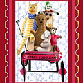Toys In A Red Wagon by Arline Wagner