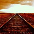 Marfa Texas America Southwest Tracks To California by Michael Hoard