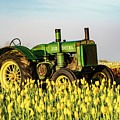 Tractor In A Field by William Downs