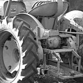 Tractor In Black And White  by Peter  McIntosh