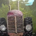 Tractor In The Garden by John Dix