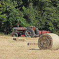 Tractor In The Hay Field by Jean Hurst