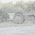 Tractor   Pencil Drawing by Jo-Ann Matthews
