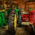 Tractors At Rest - John Deere - Mccormick - Farmall - Farm Equipment - Nostalgia - Vintage by Lee Dos Santos