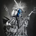 traditional dancer Blue by Raoul Alburg