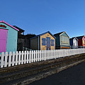 Traditional English Beach Huts by North Devon Photography