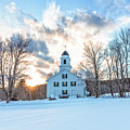 Traditional New England White Church Etna New Hampshire by Edward Fielding