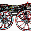 Traditional Painted Donkey Cart  by Cliff Norton
