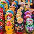 Traditional Russian Matrushka Nesting Puzzle Dolls by John Williams