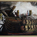 Trafalgar - Destruction Of The Bucentaure 72 X 36 In 182 X 91 Cm by Richard John Holden RA